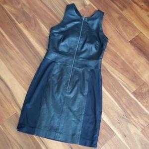 New w Tag DKNY women's Lamb Leather Vest Dress